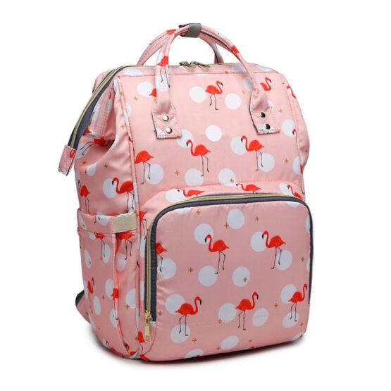 Mochila para Mamã – Flamingos – Rosa