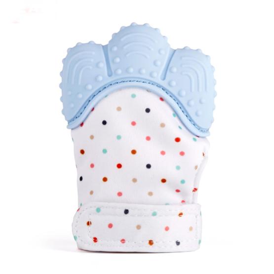 Luva de Dentição Bebé – Azul – 3M+