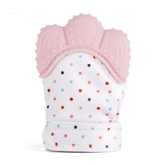 Luva de Dentição Bebé – Rosa – 3M+